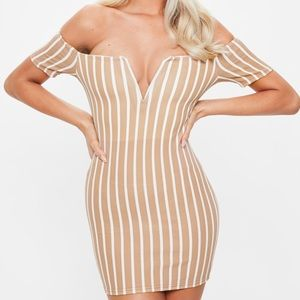 Striped Bardot Dress
